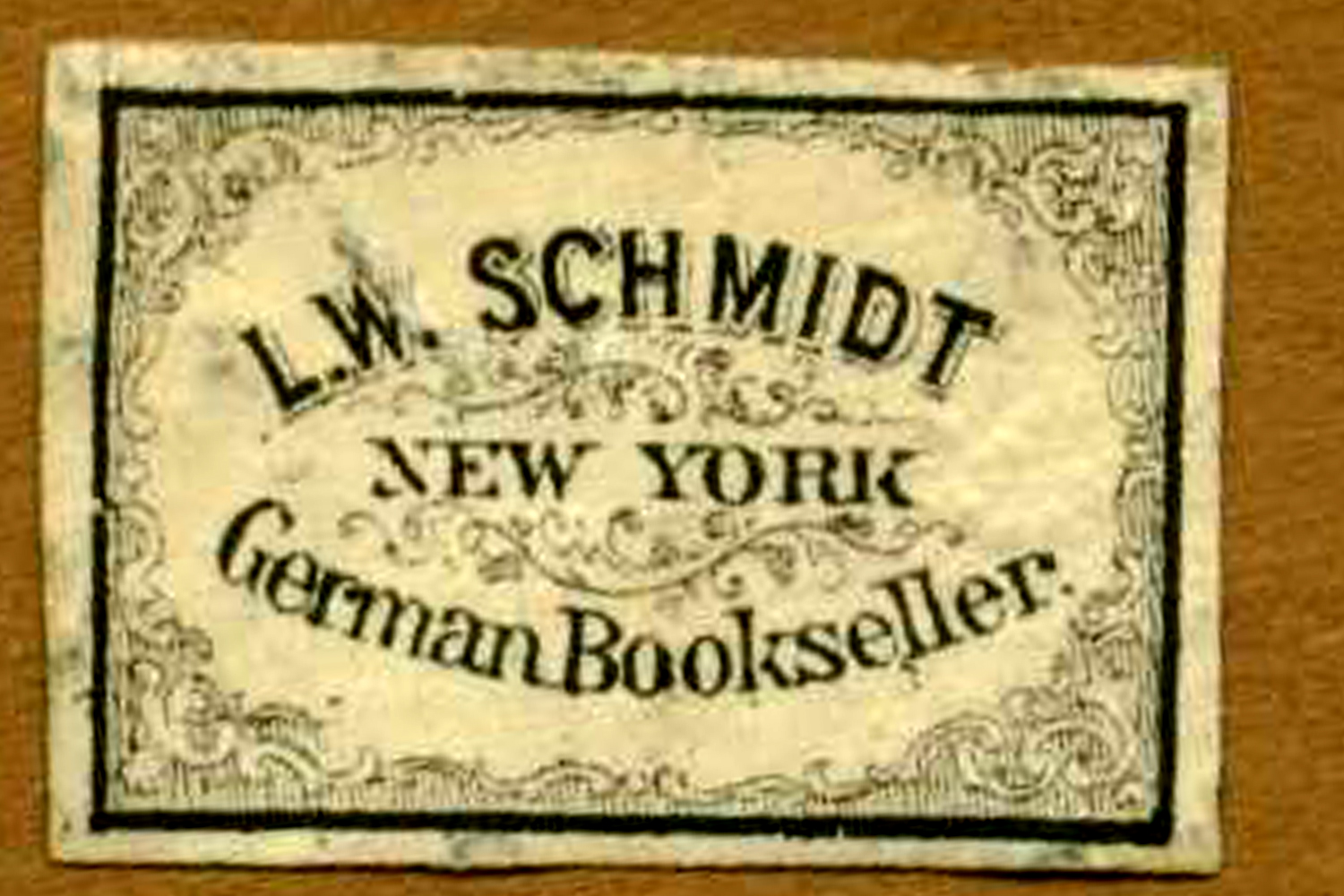 L W Schmidt New York German Bookseller